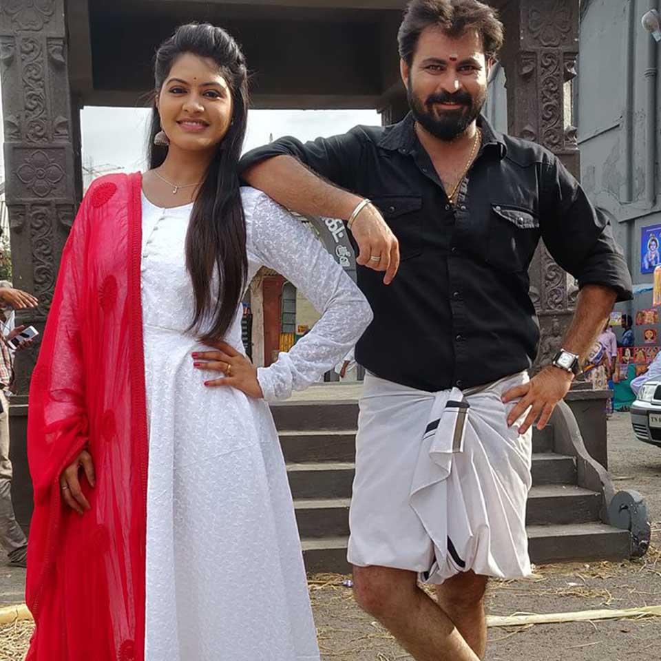 Rachitha mahalakshmi with her husband