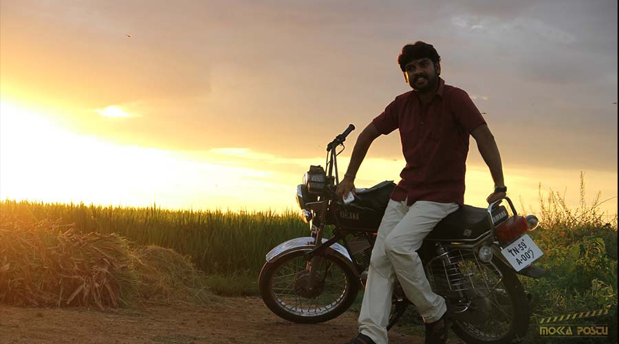 Actor Vimal in bike
