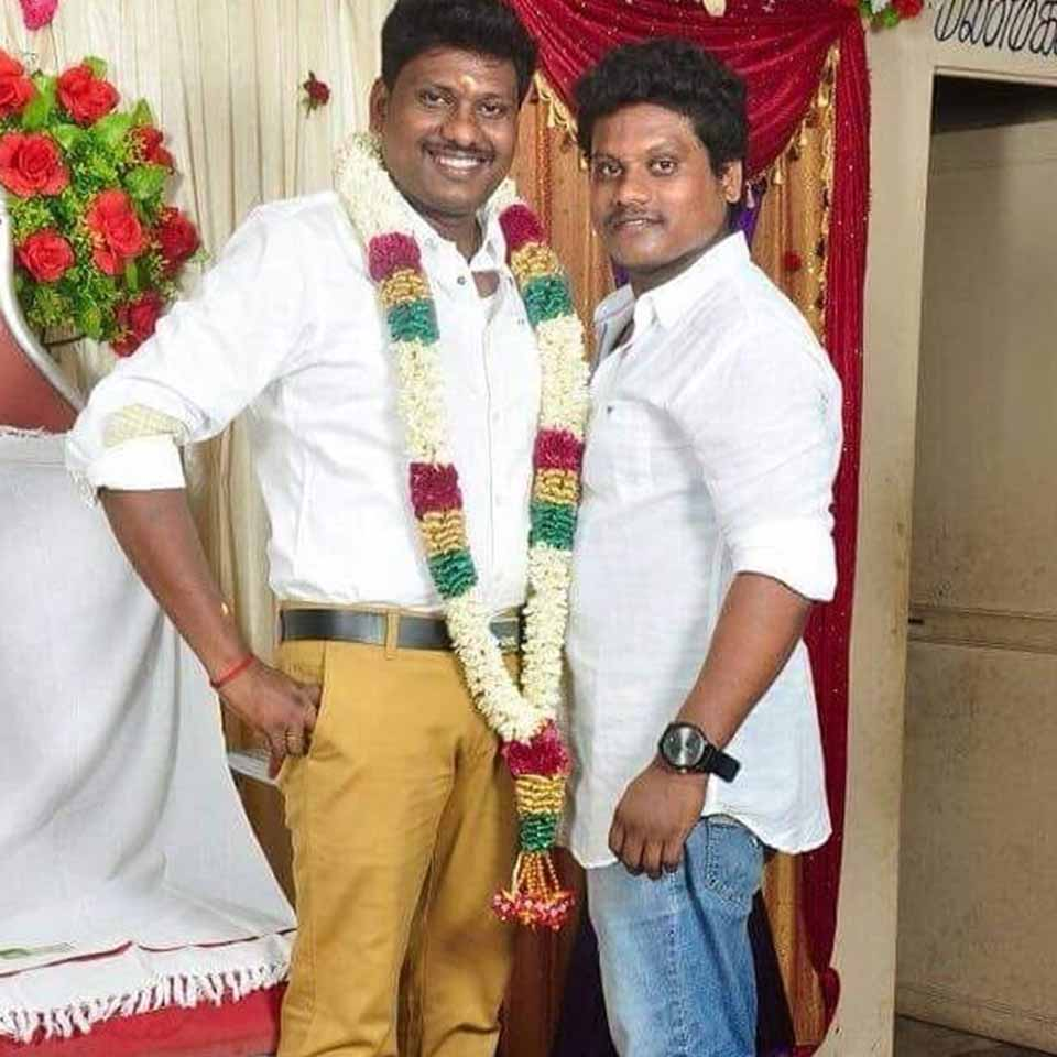 Pugazh with His brother