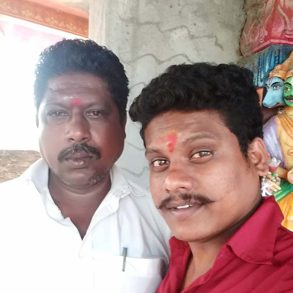 Pugazh with his father