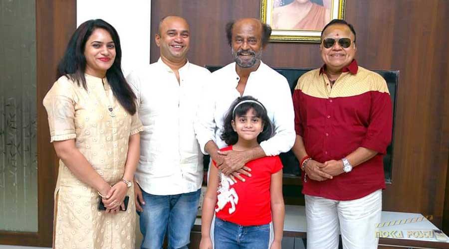 Radha Ravi family with rajinikanth