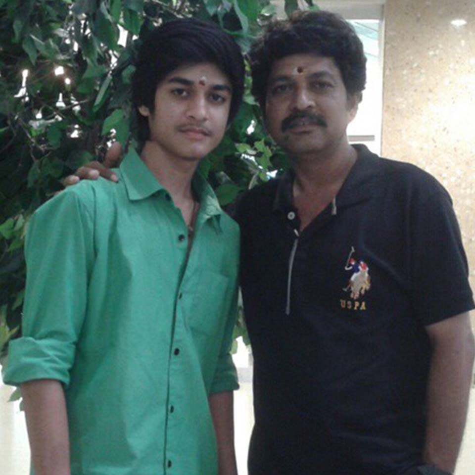 Saran Shakthi with his father
