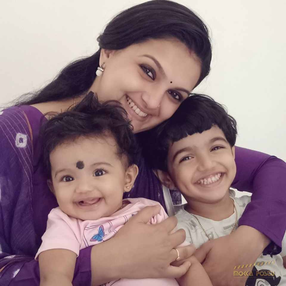 Saranya Mohan with her childrens