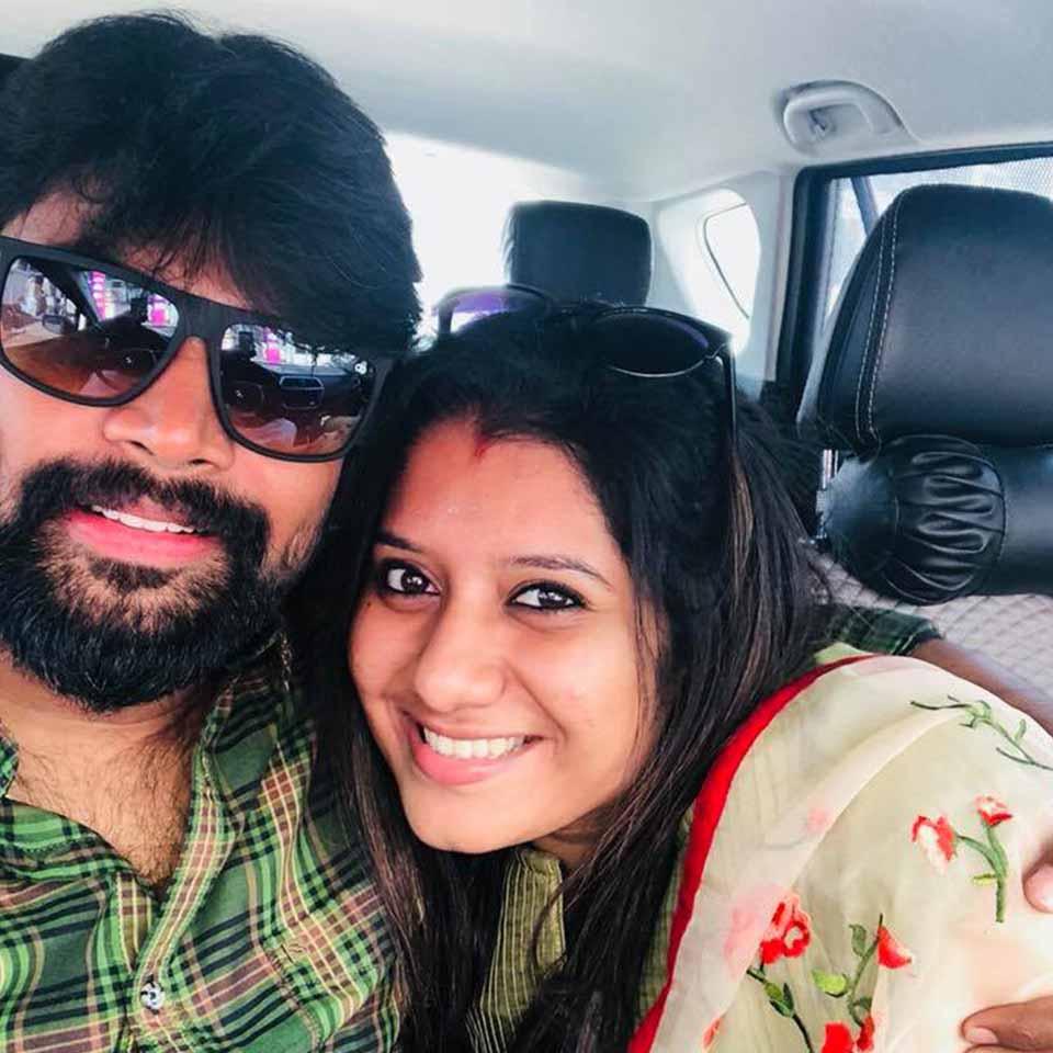 Priyanka with her husband